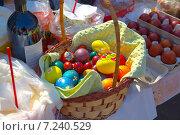 Пасхальные яйца, освящение перед Пасхой (2014 год). Редакционное фото, фотограф Ермолаева Дина / Фотобанк Лори