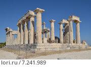 Храм Афайи освещен солнцем, остров Эгина, Греция (2013 год). Стоковое фото, фотограф Александр Гончаров / Фотобанк Лори