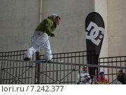 Сноуборд на Андреевской набережной (2010 год). Редакционное фото, фотограф Винокуров Евгений / Фотобанк Лори