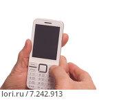 Мобильный телефон в руках пожилой женщины. Стоковое фото, фотограф Сергей Боженов / Фотобанк Лори