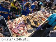 Купить «Ярмарка национальных сувениров мастеров Ханты», фото № 7246913, снято 11 апреля 2015 г. (c) Алексей Маринченко / Фотобанк Лори