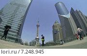 Купить «Район Пудун. Шахай. Китай. Замедленная съёмка», видеоролик № 7248945, снято 6 мая 2014 г. (c) Кирилл Трифонов / Фотобанк Лори