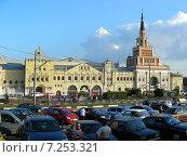 Купить «Казанский вокзал. Комсомольская площадь, 2. Москва», эксклюзивное фото № 7253321, снято 31 июля 2009 г. (c) lana1501 / Фотобанк Лори