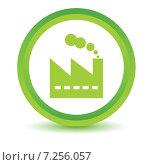 Green factory icon. Стоковая иллюстрация, иллюстратор Иван Рябоконь / Фотобанк Лори