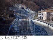 Железная дорога где ходит ласточка. Горная карусель (2015 год). Стоковое фото, фотограф Иван Лебедев / Фотобанк Лори
