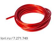 Купить «Моток кабеля на белом фоне», фото № 7271749, снято 2 мая 2012 г. (c) Денис Дряшкин / Фотобанк Лори