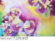Батик, роспись по ткани. Стоковое фото, фотограф NataMint / Фотобанк Лори