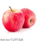 Купить «Red apple isolated on white background cutout», фото № 7277525, снято 26 июня 2014 г. (c) Natalja Stotika / Фотобанк Лори