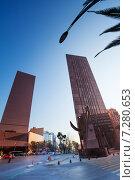 Купить «Здания на площади Пасео-де-ла-Реформа в Мехико, Мексика», фото № 7280653, снято 24 февраля 2014 г. (c) Сергей Новиков / Фотобанк Лори