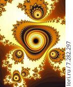 Купить «Декоративный фрактальный фон в жёлтых тонах», иллюстрация № 7282297 (c) Astronira / Фотобанк Лори
