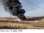 Пожар Красноярске (2015 год). Редакционное фото, фотограф Олег Брагин / Фотобанк Лори