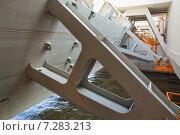 Комплекс защитных сооружений Санкт-Петербурга от наводнений. Затвор водопропускного сооружения (2015 год). Стоковое фото, фотограф Юлия Бабкина / Фотобанк Лори