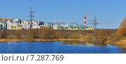 Купить «Московские новостройки. Панорама Митина и Митинского ландшафтного парка», фото № 7287769, снято 18 апреля 2015 г. (c) Валерия Попова / Фотобанк Лори