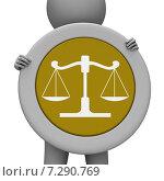 Купить «Balance Scales Means Jury Court And Balanced», иллюстрация № 7290769 (c) Stuart Miles / Фотобанк Лори