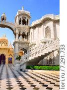 Купить «Sri Krishna Balaram temple, Vrindavan, India», фото № 7291733, снято 31 марта 2015 г. (c) Лукиянова Наталья / Фотобанк Лори