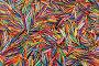 Фон из обрезков цветных проводов, эксклюзивное фото № 7293173, снято 21 апреля 2015 г. (c) Юрий Морозов / Фотобанк Лори