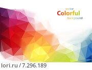 Разноцветный полигональный фон. Стоковая иллюстрация, иллюстратор Миронова Анастасия / Фотобанк Лори