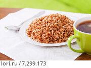 Купить «boiled buckwheat porridge», фото № 7299173, снято 18 ноября 2012 г. (c) Яков Филимонов / Фотобанк Лори