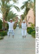 Купить «Senior couple at hotel resort», фото № 7299489, снято 28 февраля 2014 г. (c) Ruslan Huzau / Фотобанк Лори
