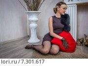 Купить «Элегантная женщина», фото № 7301617, снято 1 ноября 2014 г. (c) Наталья Степченкова / Фотобанк Лори