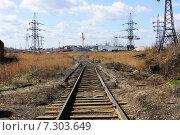 Железнодорожный путь. Стоковое фото, фотограф Новак Максим / Фотобанк Лори