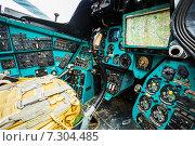 Купить «Советский многоцелевой транспортный вертолет Ми-24, панель приборов», фото № 7304485, снято 4 июня 2014 г. (c) g.bruev / Фотобанк Лори