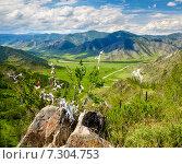 Купить «Holy stone on Altai mountain pass Chike-Taman in Russia», фото № 7304753, снято 19 июня 2014 г. (c) Serg Zastavkin / Фотобанк Лори