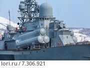 Российский военный корабль. Стоковое фото, фотограф Федоренко Борис / Фотобанк Лори