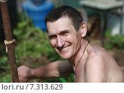 Улыбающийся мужчина. Стоковое фото, фотограф Ivanikova Tatyana / Фотобанк Лори
