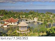 Купить «Panorama of Tirtagangga Taman Ujung water palace on Bali», фото № 7343953, снято 17 декабря 2018 г. (c) BE&W Photo / Фотобанк Лори