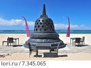 Купить «Restaurant on Jimbaran beach, Bali, Indonesia.», фото № 7345065, снято 16 декабря 2019 г. (c) BE&W Photo / Фотобанк Лори