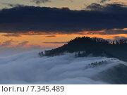 Купить «Nepal, Ghorepani, Poon Hill, Dhaulagiri massif, Himalaya, Sunrise view from Poon Hill, Dhaulagiri massif, Himalaya», фото № 7345489, снято 20 июля 2019 г. (c) BE&W Photo / Фотобанк Лори