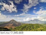 Купить «Landscape of Batur volcano on Bali island, Indonesia», фото № 7345669, снято 17 декабря 2018 г. (c) BE&W Photo / Фотобанк Лори