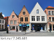 Купить «Traditional brick houses in Bruges Belgium.», фото № 7345681, снято 22 октября 2019 г. (c) BE&W Photo / Фотобанк Лори