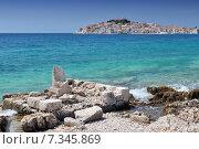 Купить «Croatia, Primosten, Panorama of Primosten», фото № 7345869, снято 16 декабря 2019 г. (c) BE&W Photo / Фотобанк Лори