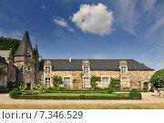 Chateau de Rochefort-en-Terre Brittany in north-western France. Стоковое фото, агентство BE&W Photo / Фотобанк Лори