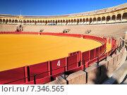 Купить «Bullfight arena (Plaza de Toros) in Seville, Andalusia Spain», фото № 7346565, снято 23 января 2019 г. (c) BE&W Photo / Фотобанк Лори