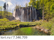 Купить «Croatia, Plitvicka Jezera, Plitvice Lakes National Park, Plitvice Lakes National Park», фото № 7346709, снято 18 декабря 2018 г. (c) BE&W Photo / Фотобанк Лори