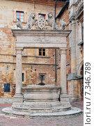 Купить «An old ornate marble well in Montepulciano, Tuscany, Italy, Europe», фото № 7346789, снято 22 июля 2019 г. (c) BE&W Photo / Фотобанк Лори