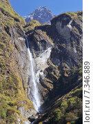 Купить «Nepal, Annapurna Conservation Area, Trek to Annapurna Base Camp in Nepal Himalaya», фото № 7346889, снято 20 июля 2019 г. (c) BE&W Photo / Фотобанк Лори