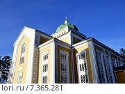 Купить «Керимяки. Финляндия. Самая большая христианская церковь, построенная из дерева. 1848», фото № 7365281, снято 25 апреля 2015 г. (c) Владимир Кошарев / Фотобанк Лори