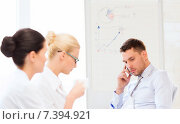 Купить «stressed male boss on business meeting», фото № 7394921, снято 9 июня 2013 г. (c) Syda Productions / Фотобанк Лори