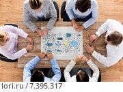 Купить «business team with scheme meeting at office», фото № 7395317, снято 10 октября 2014 г. (c) Syda Productions / Фотобанк Лори
