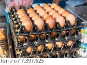 Купить «fresh eggs on tray at asian street market», фото № 7397625, снято 7 февраля 2015 г. (c) Syda Productions / Фотобанк Лори