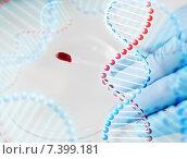 Купить «close up of scientist with blood sample in lab», фото № 7399181, снято 9 декабря 2014 г. (c) Syda Productions / Фотобанк Лори