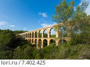 Roman aqueduct in Tarragona, Catalonia (2013 год). Стоковое фото, фотограф Яков Филимонов / Фотобанк Лори