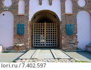 Купить «Ворота Мирского замка. Беларусь», фото № 7402597, снято 10 октября 2014 г. (c) Ирина Балина / Фотобанк Лори