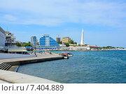 Купить «Набережная Севастополя. Крым.», фото № 7404889, снято 4 августа 2014 г. (c) Ирина Балина / Фотобанк Лори