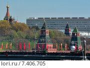 Москва готовится ко Дню Победы (2015 год). Стоковое фото, фотограф Андрей Кочкин / Фотобанк Лори