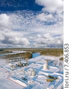 Купить «Газораспределительная станция (ГРС) в зимней тайге», фото № 7406853, снято 6 января 2008 г. (c) Георгий Shpade / Фотобанк Лори